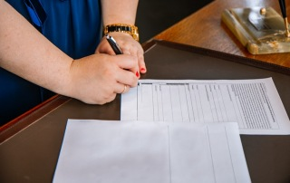 A person signing documents